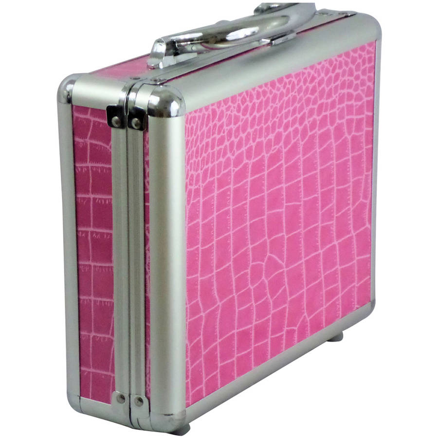 "Aluminum 10"" Case 101216 with Purple Alligator Print"