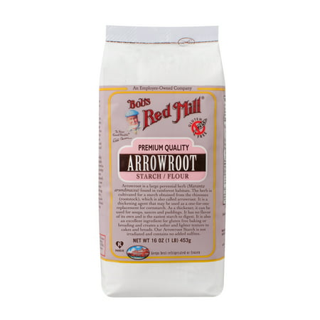 Bobs Red Mill Premium Quality Arrowroot Starch Flour  16 Oz