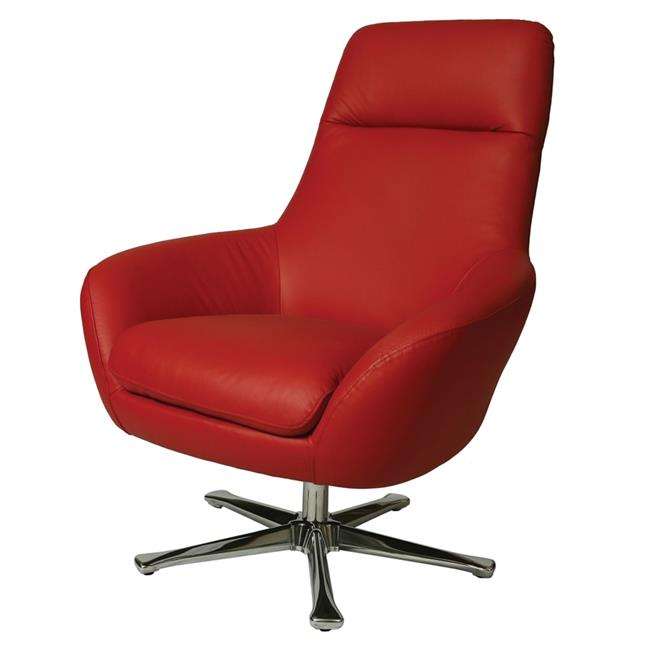 Pastel Furniture Ellejoyce Leather Club Chair in Red by Pastel Furniture
