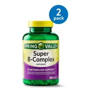 - (2 Pack) Spring Valley Super B-Complex Tablets, 250 Ct