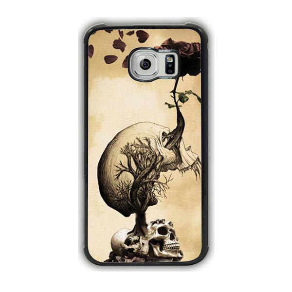 Skull Growing A Rose Galaxy S7 Case