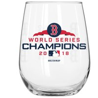 Boston Red Sox 2018 World Series Champions 16oz. Stemless Wine Glass - No Size