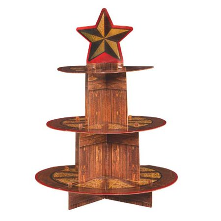 Western 'Yeehaw' 3-Tiered Cupcake Stand (1ct)