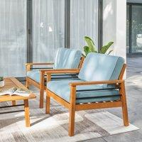 Gloucester Contemporary Patio Wood Sofa Club Chair