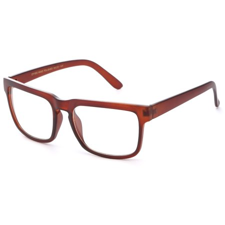 IG Unisex Retro Plain Matte Finish Clear Lens Fashion Glasses in