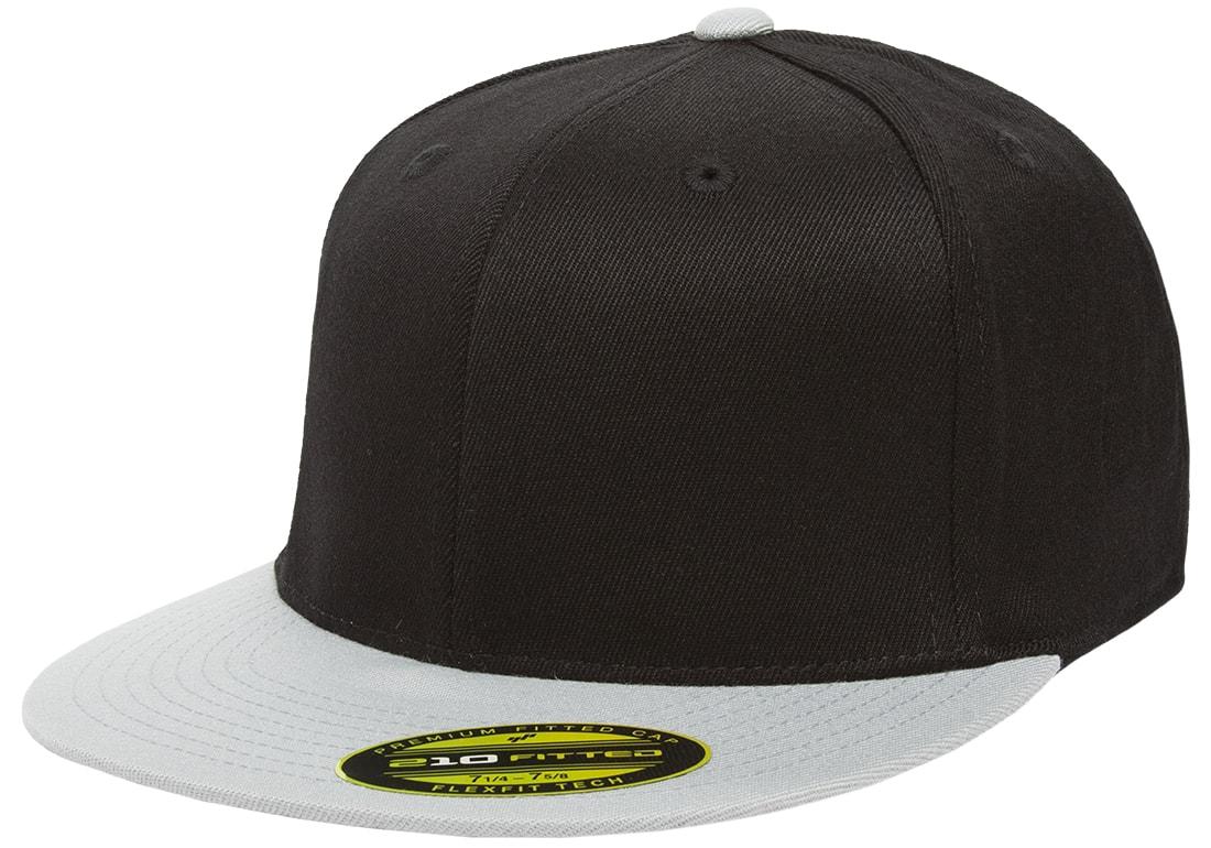 945dd8904 The Hat Pros Blank Flexfit 6210 Premium Fitted 210 Cap Small/Medium - Black/ Grey - Walmart.com