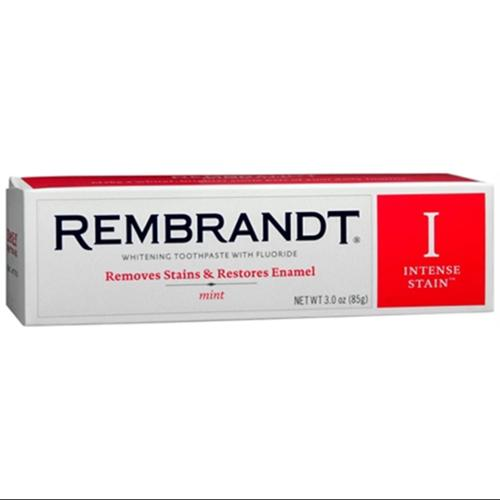 Rembrandt Whitening Toothpaste Intense Stain 3 oz (Pack of 3)