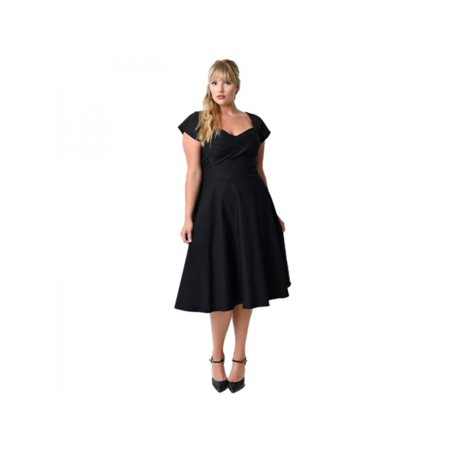 Nicesee Women Retro Formal Short Mini Dress Plus Size