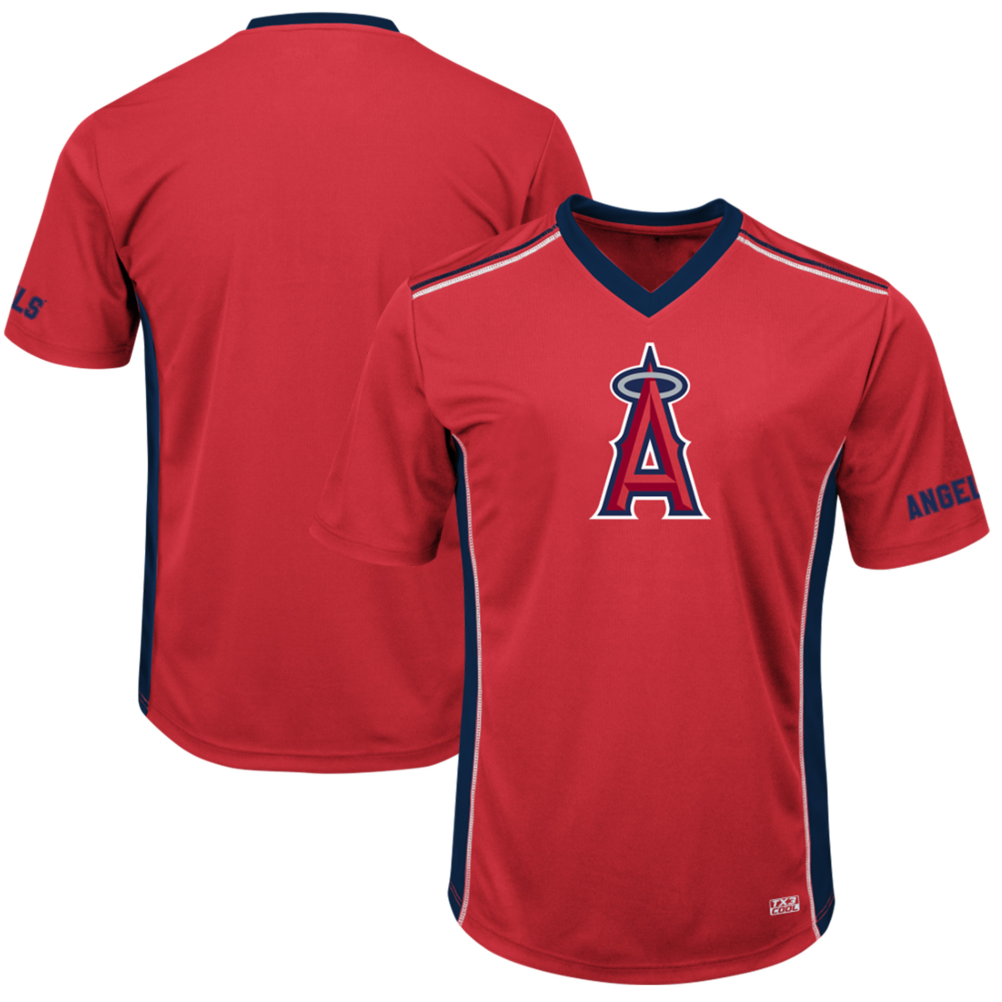 Men's Majestic Red/Navy Los Angeles Angels Big & Tall Memorable Moments T-Shirt