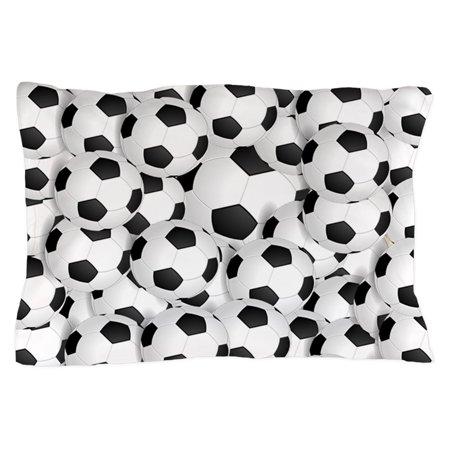 CafePress - Soccer Balls - Standard Size Pillow Case, 20