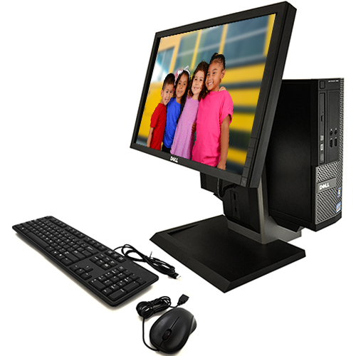 """Refurbished Desktop Computers Dell Optiplex 390 All In One Computer Bundle with an Intel i3 3.1GHz Processor 4GB Ram 250GB Hard Drive 19""""LCD and Windows 10 Home Premium"""