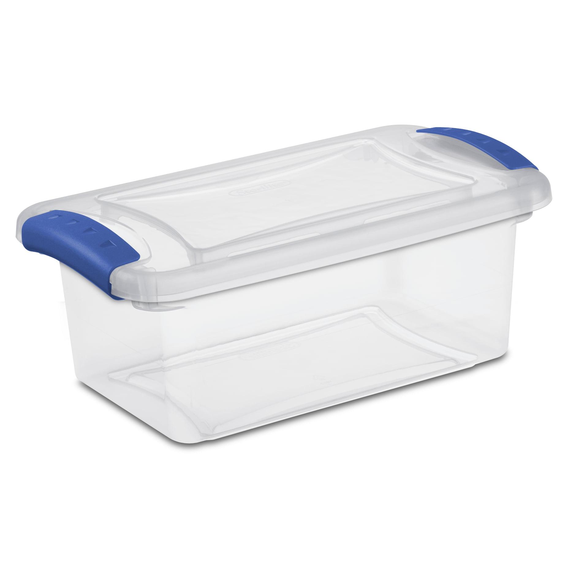 Sterilite 7 Qt./6.6 L Latch Box, Stadium Blue