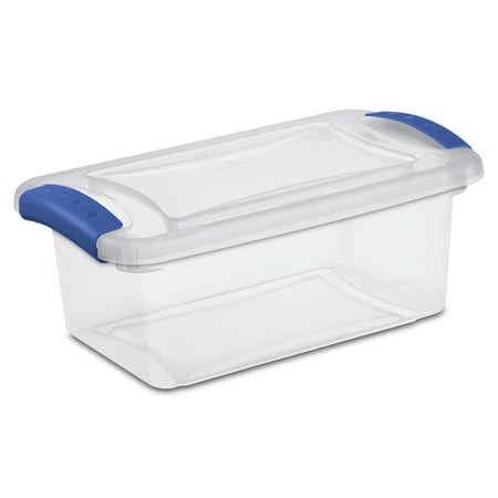 Sterilite 7 Quart Stadium Blue Latch Box, 2 Piece