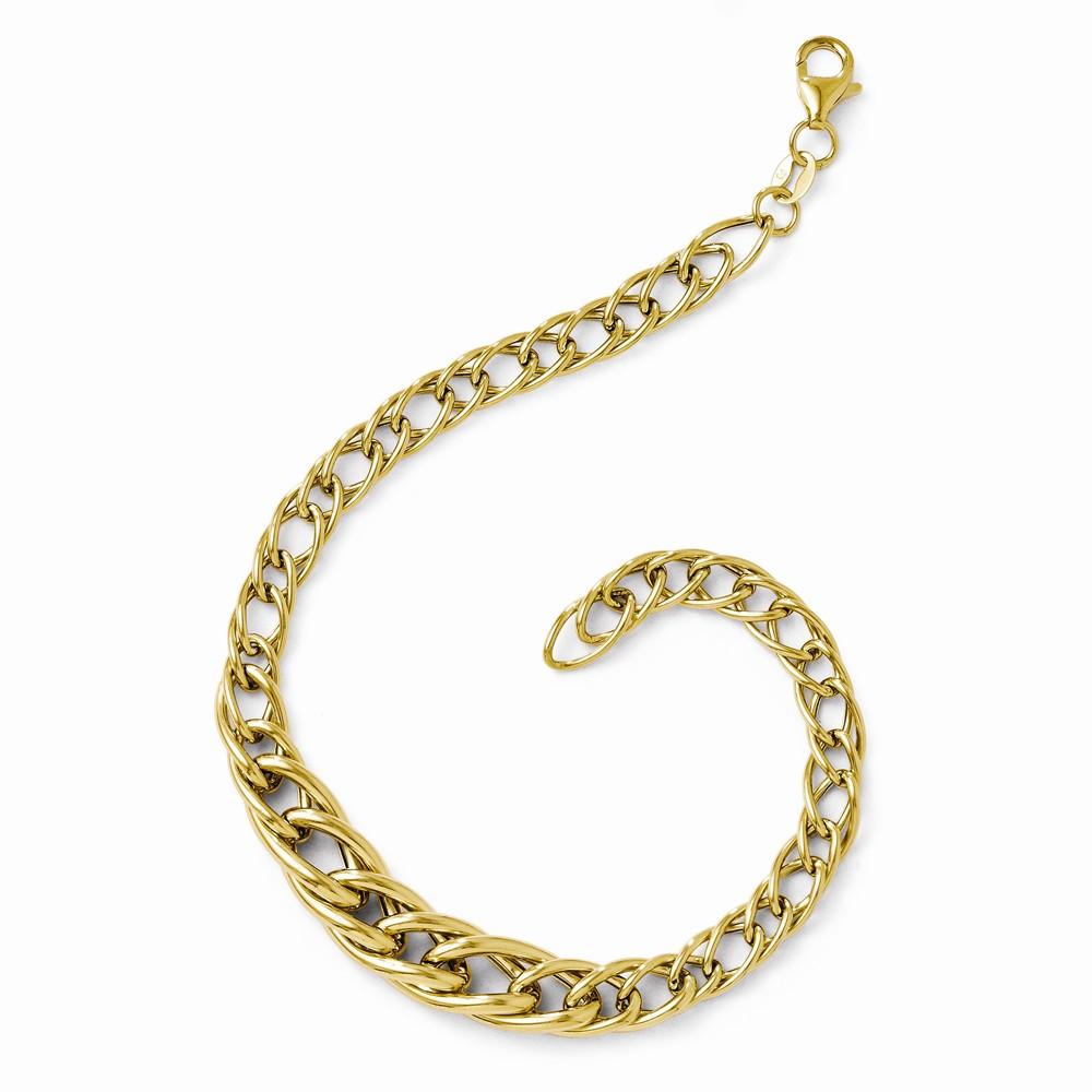 14k Yellow Gold 7.5in Polished Fancy Link Bracelet