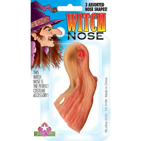 Star Power Women Wrinkly Old Halloween Witch Nose, Beige, One - Old Lady Halloween Pics