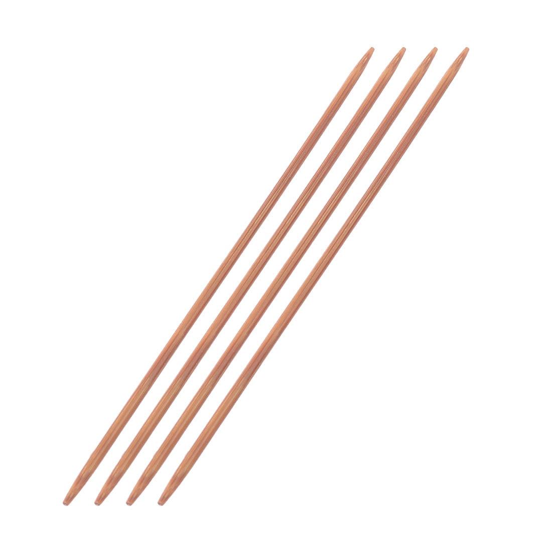 Bamboo Sewing Knitting Tatting Hat Socks Golves Needles Brown 2.5mm Dia 4pcs
