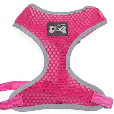 Comfort Control Dog Harness Xl Adjustable Soft Mesh Reflective Puppy Harness Walk Collar Fuchsia For Extra Large Dog