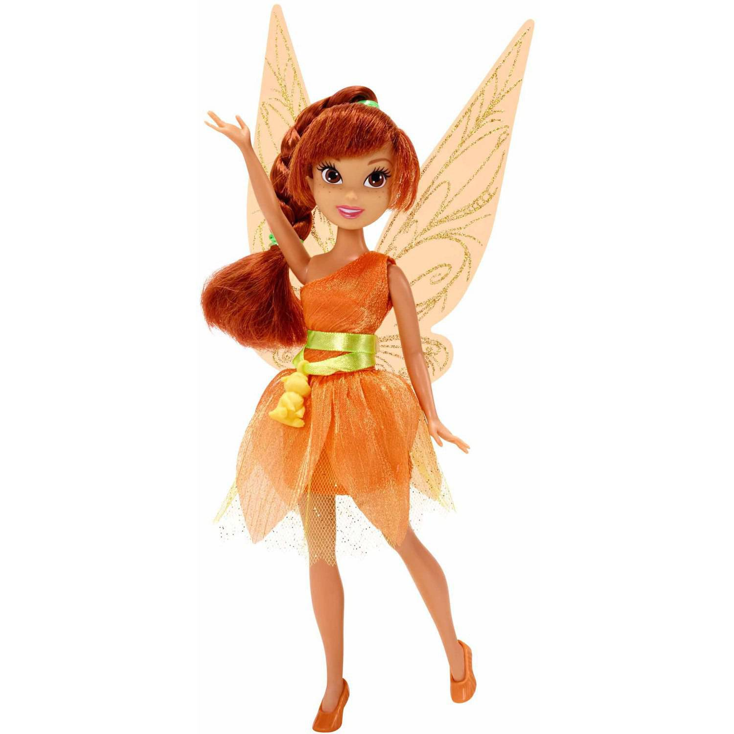 "Disney Fairies 9"" Classic Fashion Doll, Fawn with NeverBeast Charm"