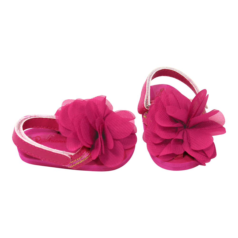 Dream Big Wholesale Doll Clothes Arianna Pink Peony Sandal Fits Most
