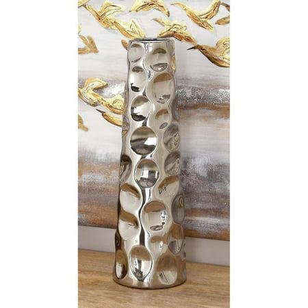 Decmode Ceramic Vase, Silver