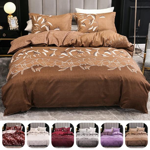 Bedspread s Set Cushion Inky Floral Duvet Cover /& Pillowcase