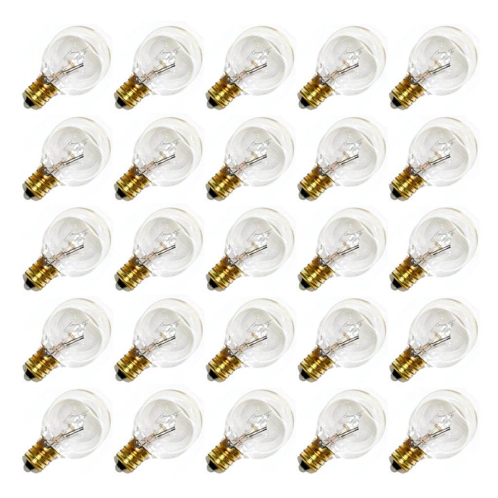 Sival 30120 - G30 Candelabra Screw Base Clear (25 pack) Christmas Light Bulbs