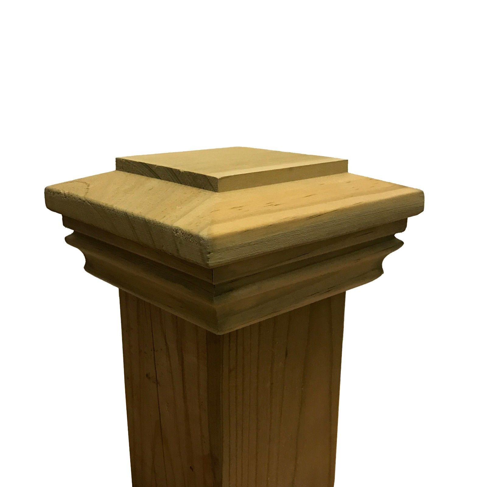 Pressure Treated Plateau Wood Post Cap for 3.5 x 3.5 Fence and Deck Posts