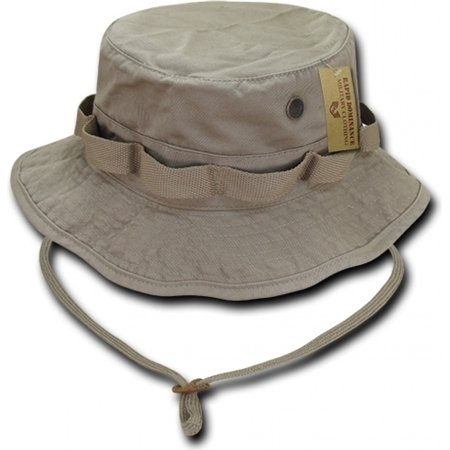 RapDom Vintage Washed Jungle Mens Boonie Hat [Khaki - S]