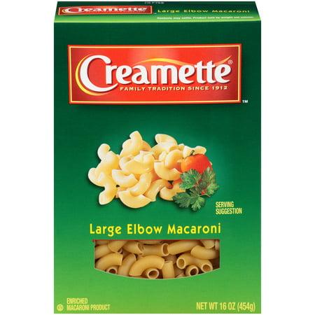 Creamette 174 Large Elbow Macaroni 16 Oz Box Walmart Com