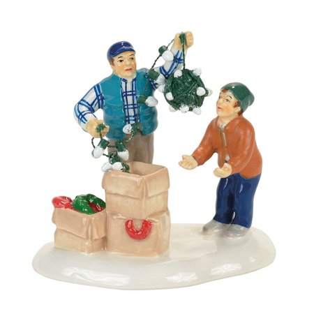 Snow Christmas Vacation Clark and Rusty Figurine Village Accessory Multicolored, Nullify By Department 56