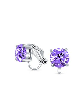b9b2e8db5 Product Image 2CT Brilliant Cut Round Cubic Zirconia AAA CZ Solitaire Clip  On Stud Earrings For Women Silver