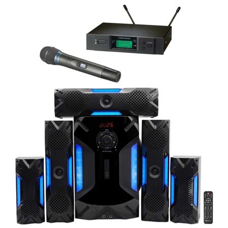 audio technica atw 3171bc uhf wireless condenser microphone home theater system. Black Bedroom Furniture Sets. Home Design Ideas