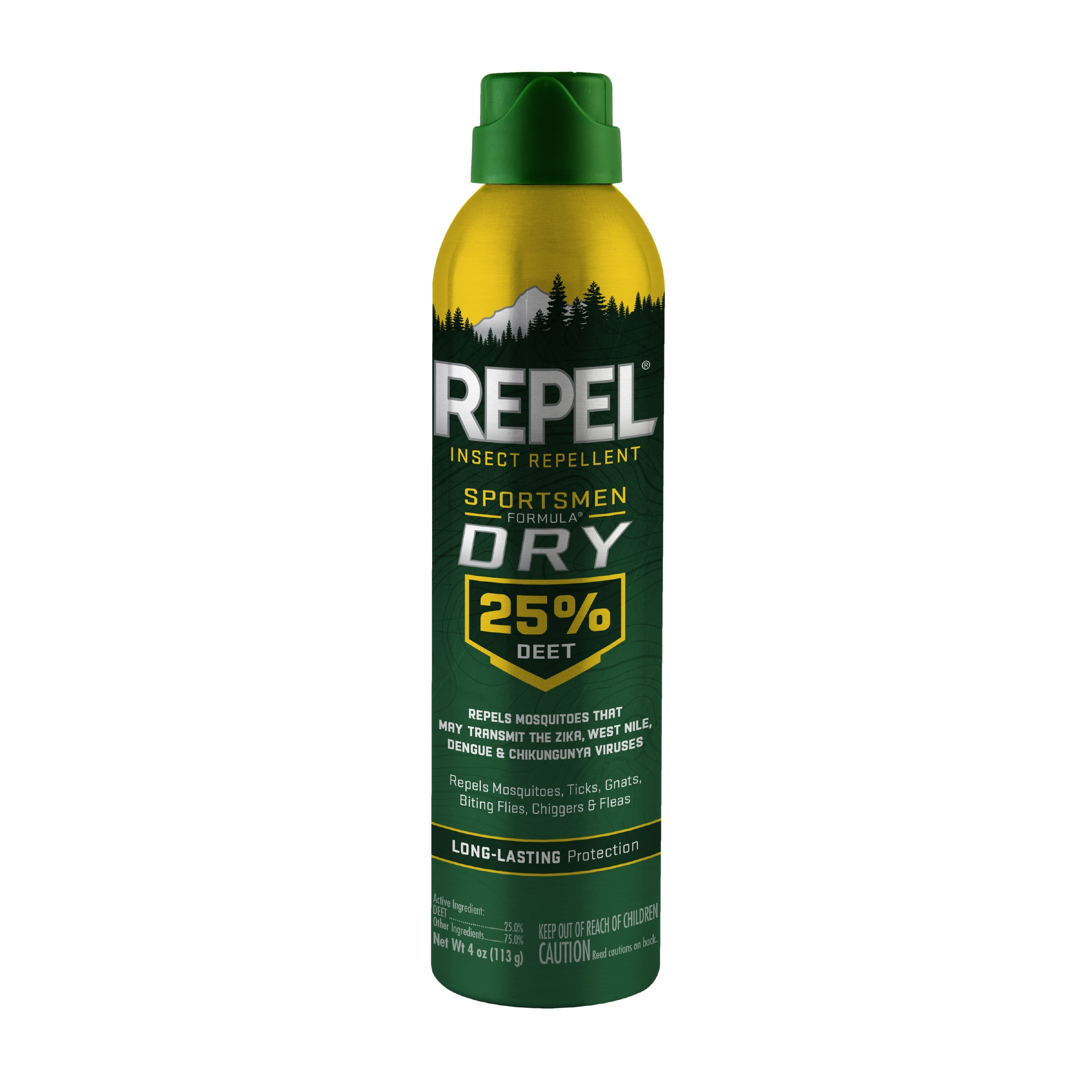 Repel Insect Repellent Sportsmen Formula Dry 25% DEET, 4-oz