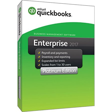 Quickbooks Enterprise 2017 Platinum Edition  4 User  1 Year Subscription