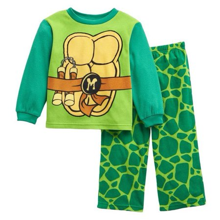 Nickelodeon Teenage Mutant Ninja Turtles Fleece Pajama Set (4T) - Ninja Turtle Footed Pajamas For Adults