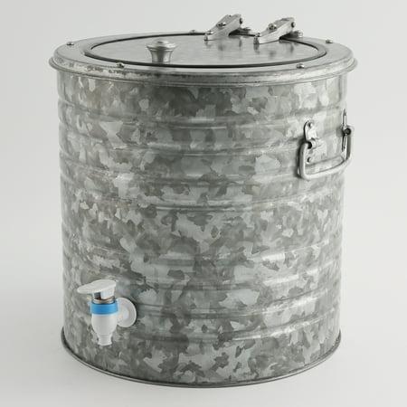 - 8-Quart Galvanized Steel Beverage Dispenser
