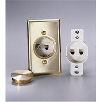Floor Mount Jack Housing - Brass