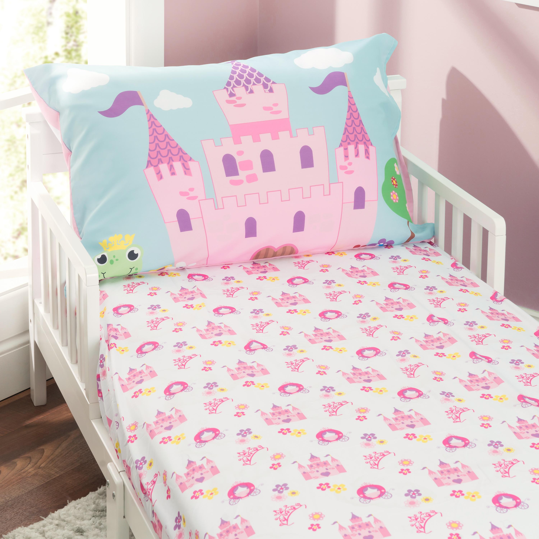 Everyday Kids Toddler Sheet Set - Princess Storyland