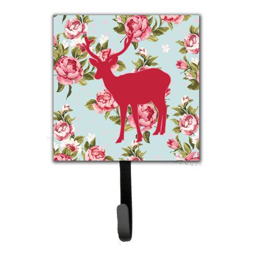 Caroline's Treasures Deer Shabby Elegance Roses Leash Holder and Wall Hook
