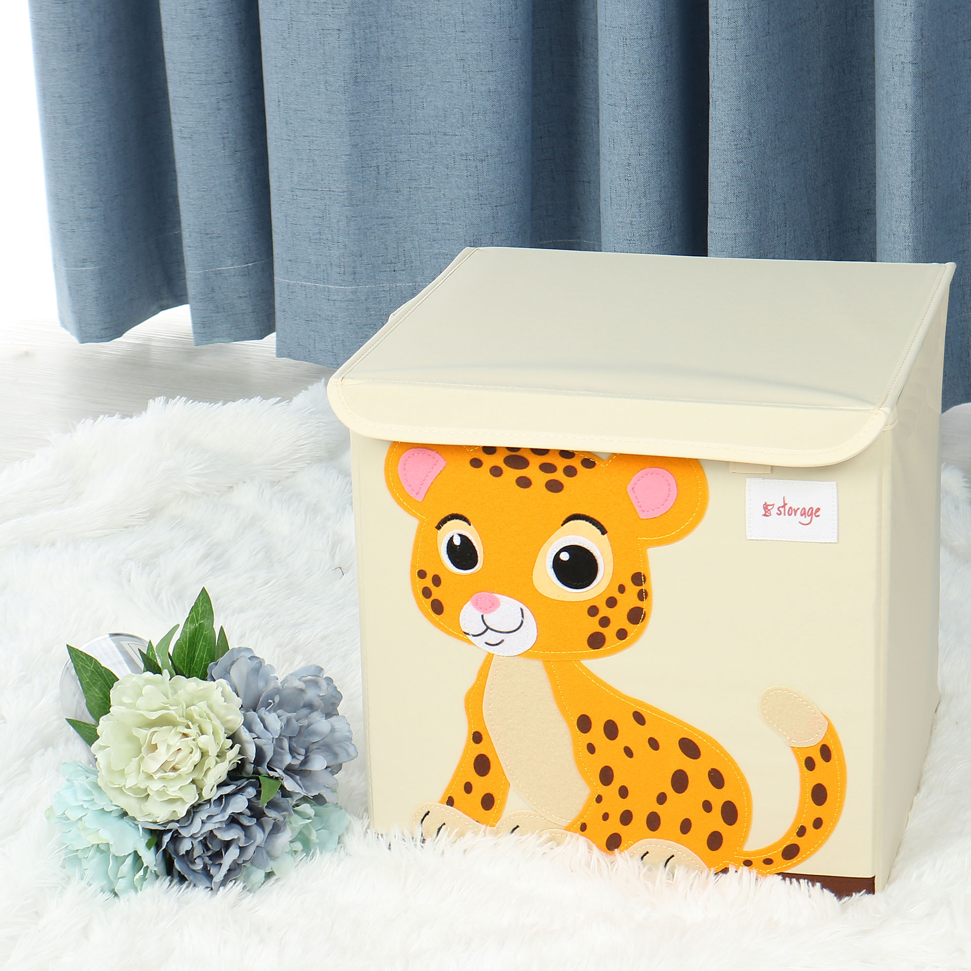 Foldable Fabric Cartoon Storage Bins Cubes Basket Waterproof Containers