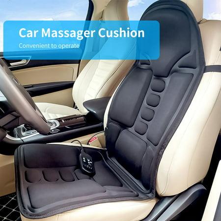 WALFRONT Heated Electric Car Neck Lumbar Full Body Massage Massager Seat Cushion Pad Seat Massager Cushion US