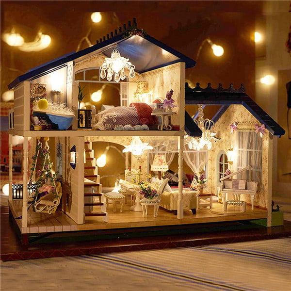 Led Light Miniature Provence Dollhouse