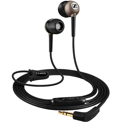 sennheiser cx400-ii-b in-ear headphone with dynamic speaker system and integrated vol controls (discontinued by manufacturer)