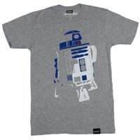 Star Wars Mens T-Shirt -  Stylized R2D2 in Shadow Image