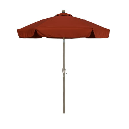 Sunline 7.5' Market Crank Tilt Spun Polyester Patio Umbrella, Multiple Colors ()