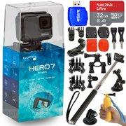 GoPro HERO7 Silver 12MP Waterproof 4K Camera Camcorder + 32GB Action Bundle