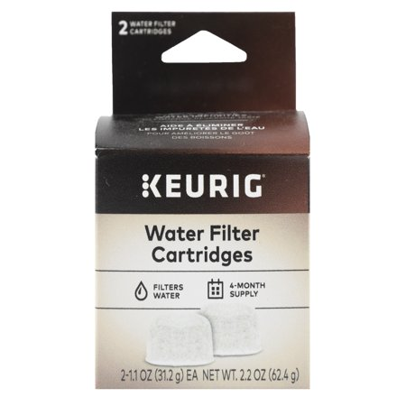 Keurig 2-Pack Water Filter Refill Cartridges, 2 count, For use with Keurig 2.0 and 1.0/Classic K-Cup Pod Coffee Makers
