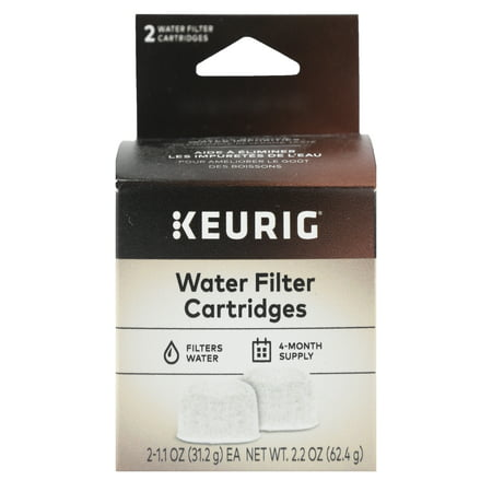 Keurig 2-Pack Water Filter Refill Cartridges, 2 count, For use with Keurig 2.0 and 1.0/Classic K-Cup Pod Coffee Makers Delonghi Coffee Maker Filter