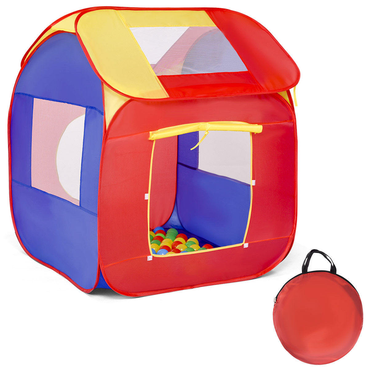 Costway Portable Kid Baby Play House Toy Tent Game Playhut 100 Balls Indoor Outdoor