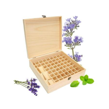 59 Slots Essential Oils Storage Wooden Box Pine Aromatherapy Wood Display Case ()